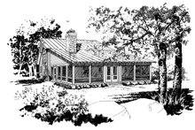 Architectural House Design - Cabin Exterior - Front Elevation Plan #942-34