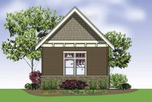 Dream House Plan - Exterior - Rear Elevation Plan #48-885