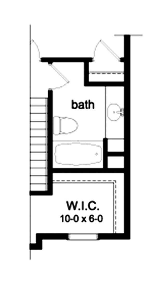House Plan Design - Colonial Floor Plan - Upper Floor Plan #1010-113