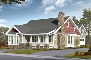 Craftsman Exterior - Front Elevation Plan #132-258
