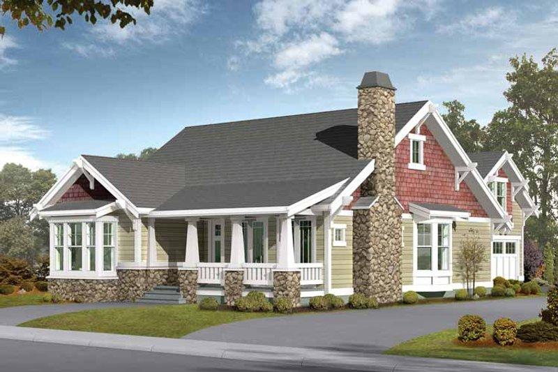 House Plan Design - Craftsman Exterior - Front Elevation Plan #132-258