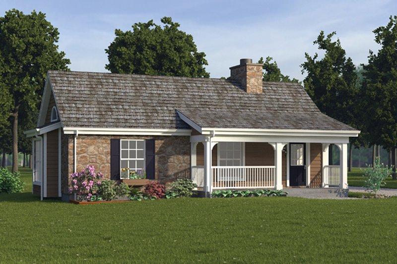 House Plan Design - Cottage Exterior - Front Elevation Plan #57-269
