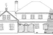 Southern Style House Plan - 4 Beds 3 Baths 3920 Sq/Ft Plan #137-197 Exterior - Rear Elevation
