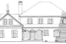 Southern Exterior - Rear Elevation Plan #137-197