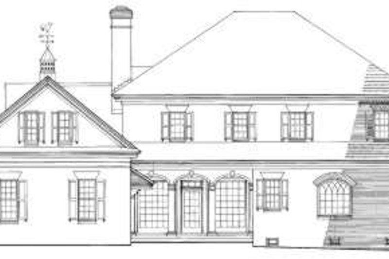 Southern Exterior - Rear Elevation Plan #137-197 - Houseplans.com
