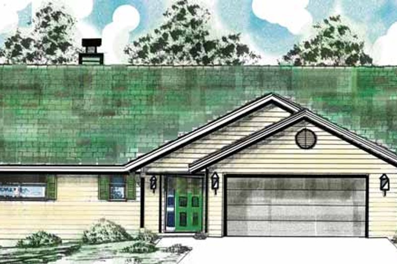 Country Exterior - Front Elevation Plan #52-265 - Houseplans.com