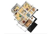 Traditional Style House Plan - 3 Beds 2 Baths 4867 Sq/Ft Plan #25-4633 Floor Plan - Upper Floor Plan