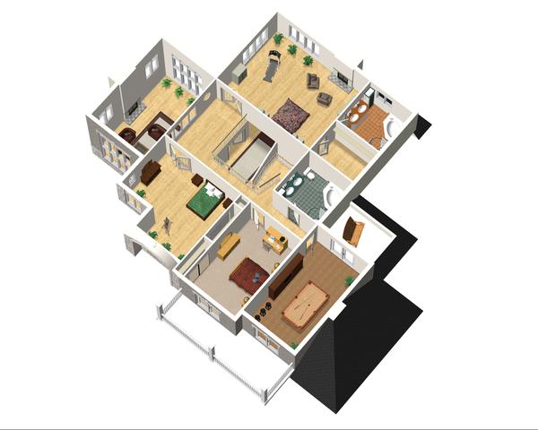 Traditional Floor Plan - Upper Floor Plan Plan #25-4633