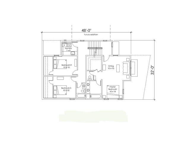 Modern Floor Plan - Upper Floor Plan Plan #902-3