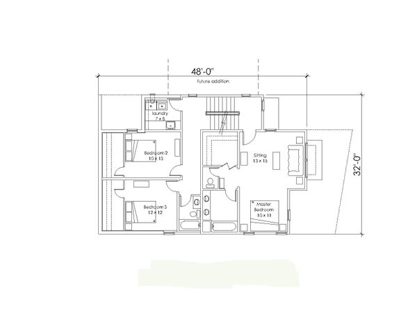 Modern Floor Plan - Upper Floor Plan #902-3