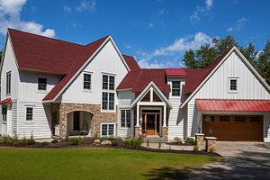 Country Exterior - Front Elevation Plan #928-290