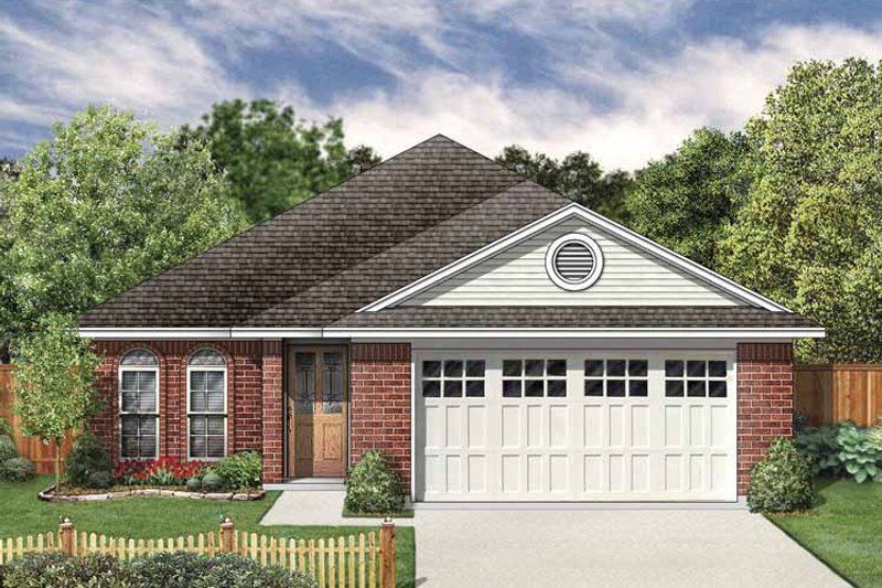 Traditional Exterior - Front Elevation Plan #84-751 - Houseplans.com