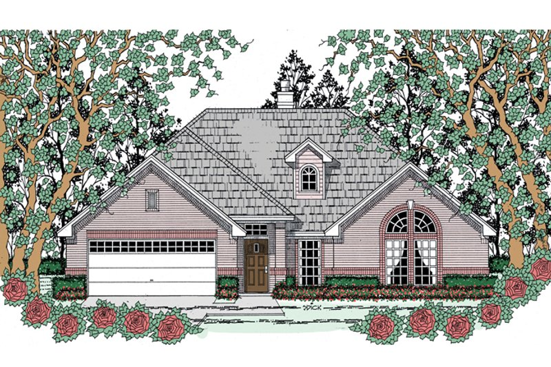 Traditional Exterior - Front Elevation Plan #42-722 - Houseplans.com