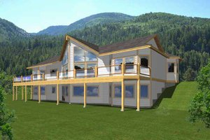 Architectural House Design - European Exterior - Front Elevation Plan #1037-39