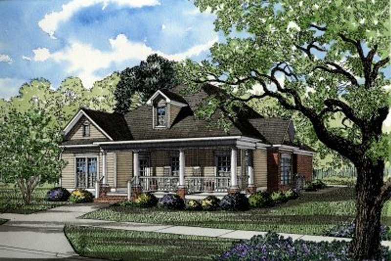 House Plan Design - Country Exterior - Front Elevation Plan #17-1015