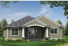 Craftsman Exterior - Rear Elevation Plan #132-530