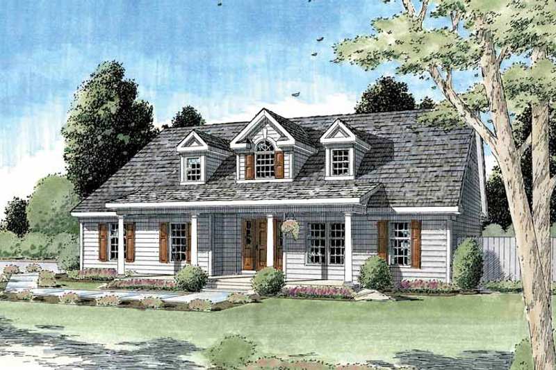 Architectural House Design - Country Exterior - Front Elevation Plan #1029-52