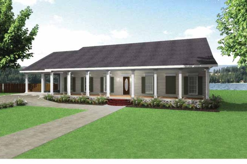 Country Exterior - Front Elevation Plan #44-211
