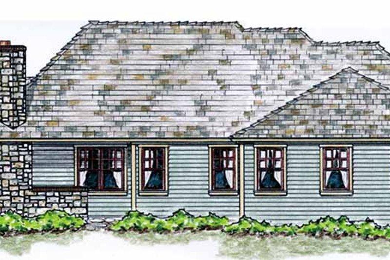 Cottage Exterior - Rear Elevation Plan #410-3568 - Houseplans.com