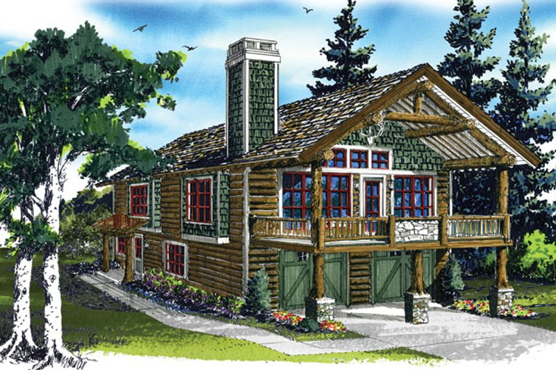 Country Exterior - Front Elevation Plan #942-20