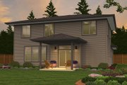 Contemporary Style House Plan - 4 Beds 2.5 Baths 2274 Sq/Ft Plan #943-49 Exterior - Rear Elevation