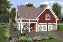House Plan Design - Farmhouse Exterior - Front Elevation Plan #56-575