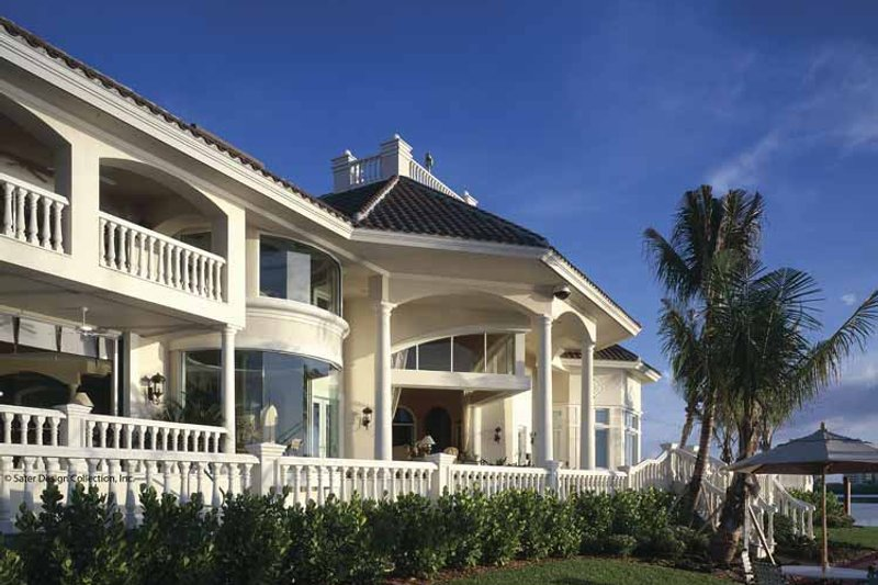 Mediterranean Exterior - Rear Elevation Plan #930-412 - Houseplans.com
