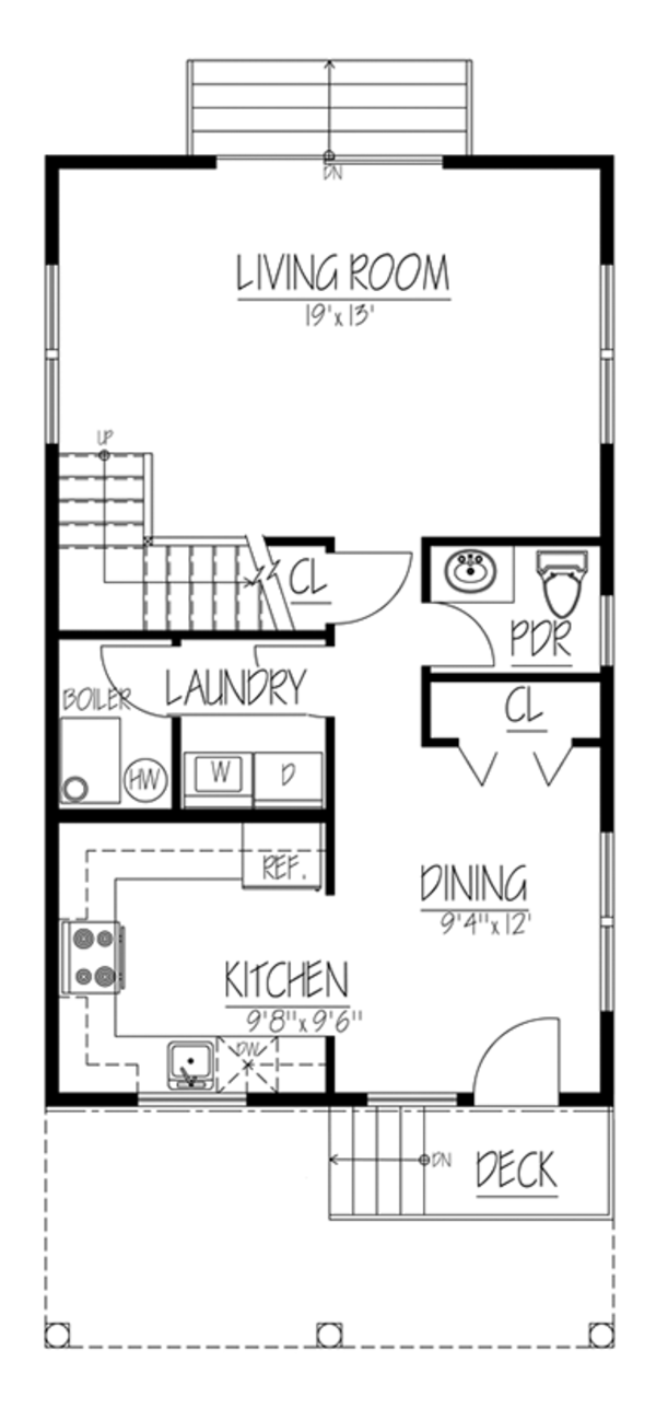 Traditional Floor Plan - Main Floor Plan Plan #1061-33