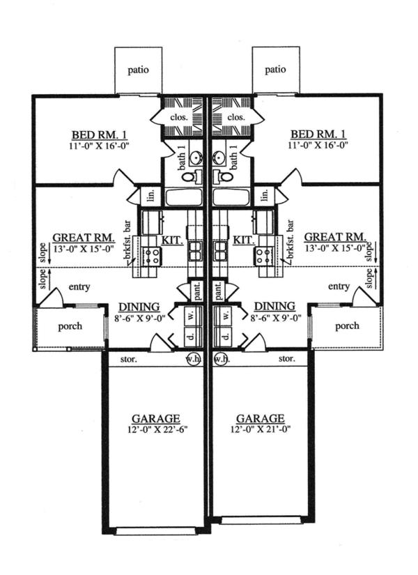 Home Plan - Traditional Floor Plan - Main Floor Plan #42-726