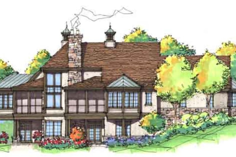 European Exterior - Rear Elevation Plan #929-941 - Houseplans.com