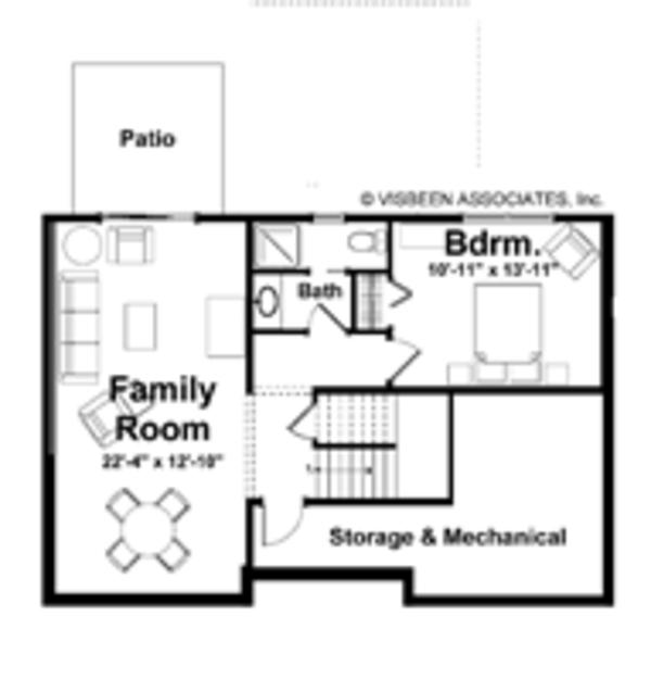 Country Floor Plan - Lower Floor Plan Plan #928-163