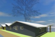 Modern Style House Plan - 3 Beds 2 Baths 1616 Sq/Ft Plan #450-4 Exterior - Other Elevation