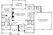 Craftsman Style House Plan - 3 Beds 4 Baths 2764 Sq/Ft Plan #453-11 Floor Plan - Main Floor Plan