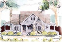 Country Exterior - Front Elevation Plan #429-434