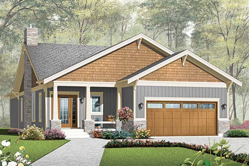 Traditional Style House Plan - 3 Beds 2 Baths 1838 Sq/Ft Plan #23-2532