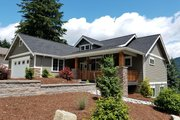 Craftsman Style House Plan - 3 Beds 2.5 Baths 2233 Sq/Ft Plan #1070-17 Exterior - Front Elevation