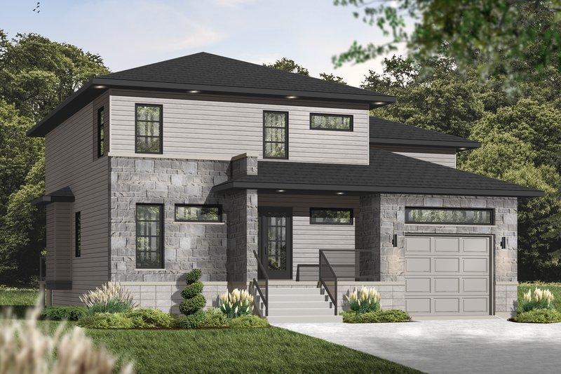 House Plan Design - Contemporary Exterior - Front Elevation Plan #23-2545