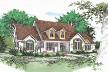 House Design - Traditional Exterior - Front Elevation Plan #472-93