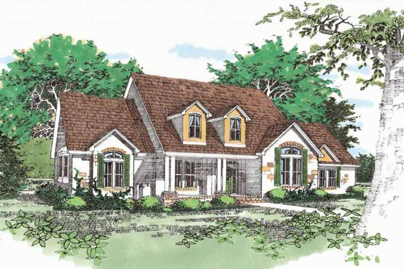 Traditional Exterior - Front Elevation Plan #472-93 - Houseplans.com