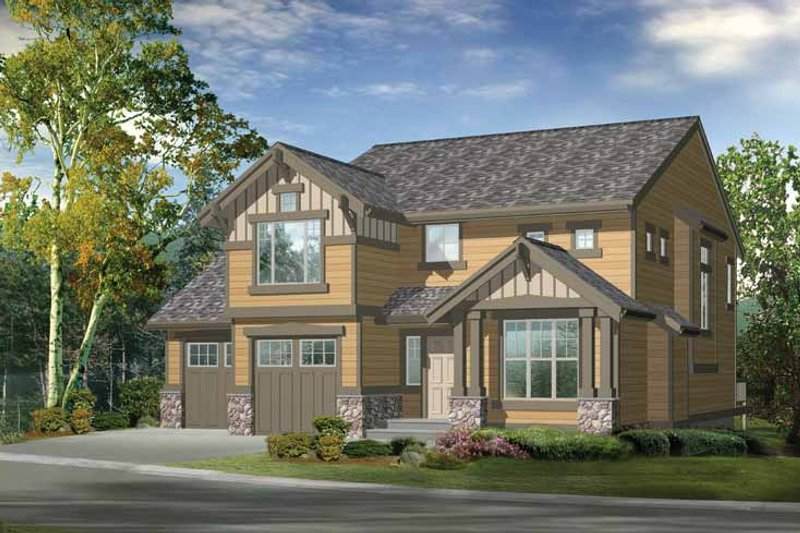 Craftsman Exterior - Front Elevation Plan #132-355