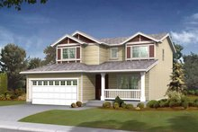 House Plan Design - Craftsman Exterior - Front Elevation Plan #569-5