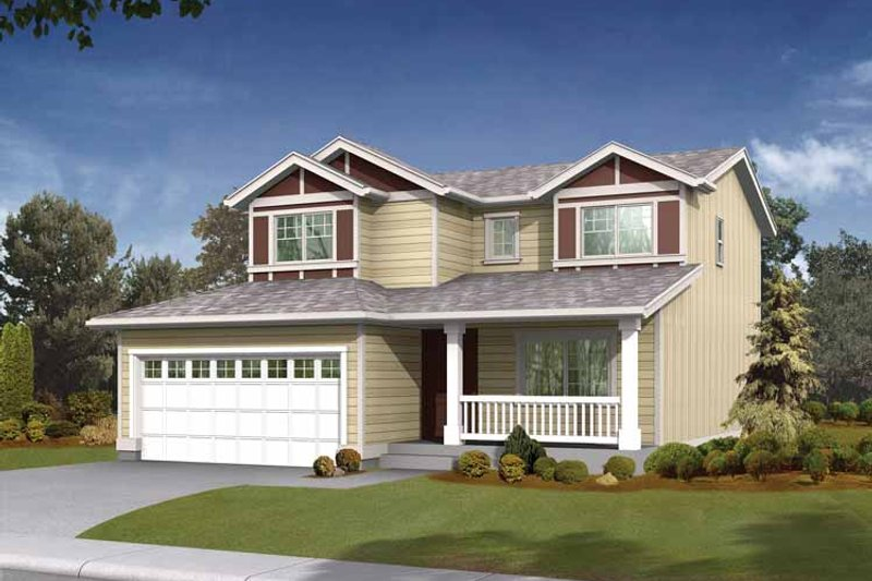 Craftsman Exterior - Front Elevation Plan #569-5