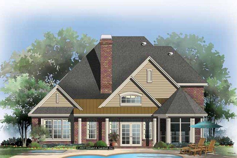 Traditional Exterior - Rear Elevation Plan #929-842 - Houseplans.com