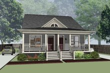 Cottage Exterior - Front Elevation Plan #79-241