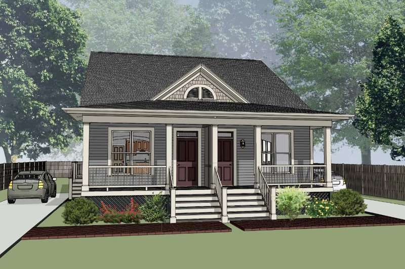 Cottage Style House Plan - 2 Beds 2 Baths 2244 Sq/Ft Plan #79-241 Exterior - Front Elevation