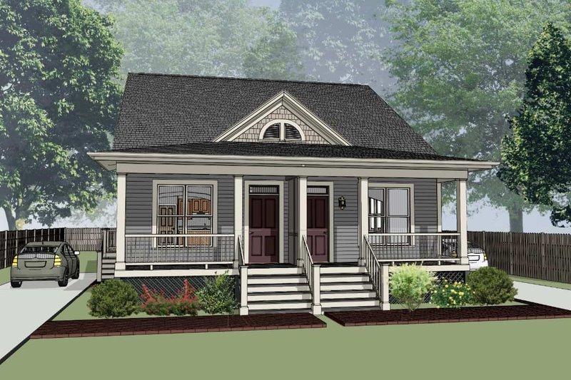 Architectural House Design - Cottage Exterior - Front Elevation Plan #79-241