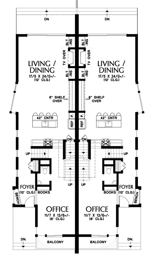 Dream House Plan - Contemporary Floor Plan - Main Floor Plan #48-1020