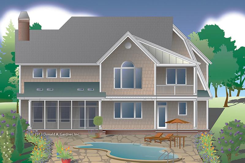 Colonial Exterior - Rear Elevation Plan #929-977 - Houseplans.com