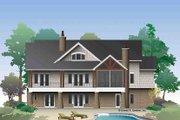 European Style House Plan - 4 Beds 4.5 Baths 3608 Sq/Ft Plan #929-975 Exterior - Rear Elevation