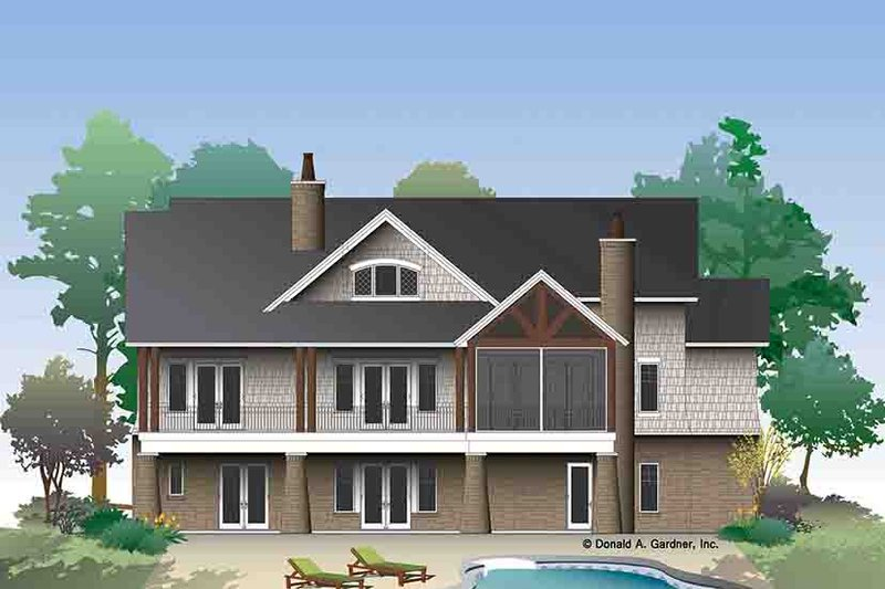European Exterior - Rear Elevation Plan #929-975 - Houseplans.com